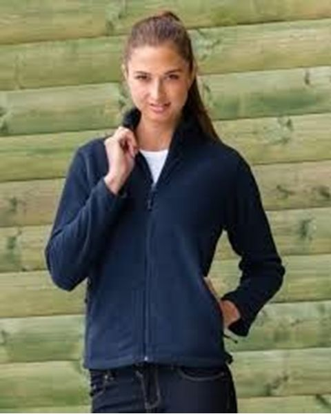 Picture of WICC Russell Ladies Full Zip Outdoor Fleece - French Navy