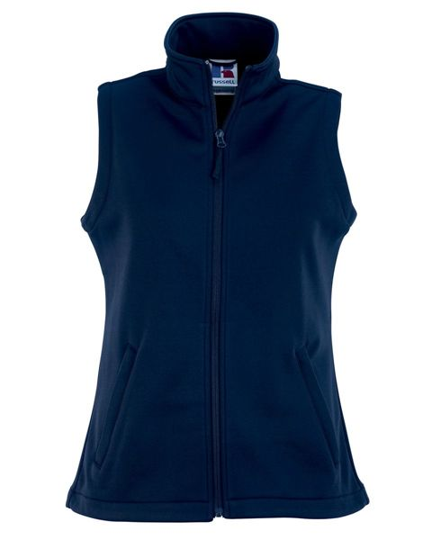 Picture of WICC Russell Ladies Smart Softshell Gilet - French Navy