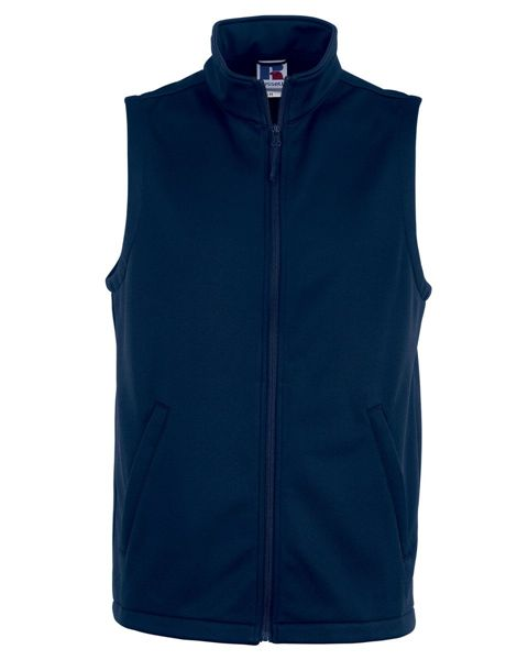 Picture of WICC Russell Mens Smart Softshell Gilet - French Navy