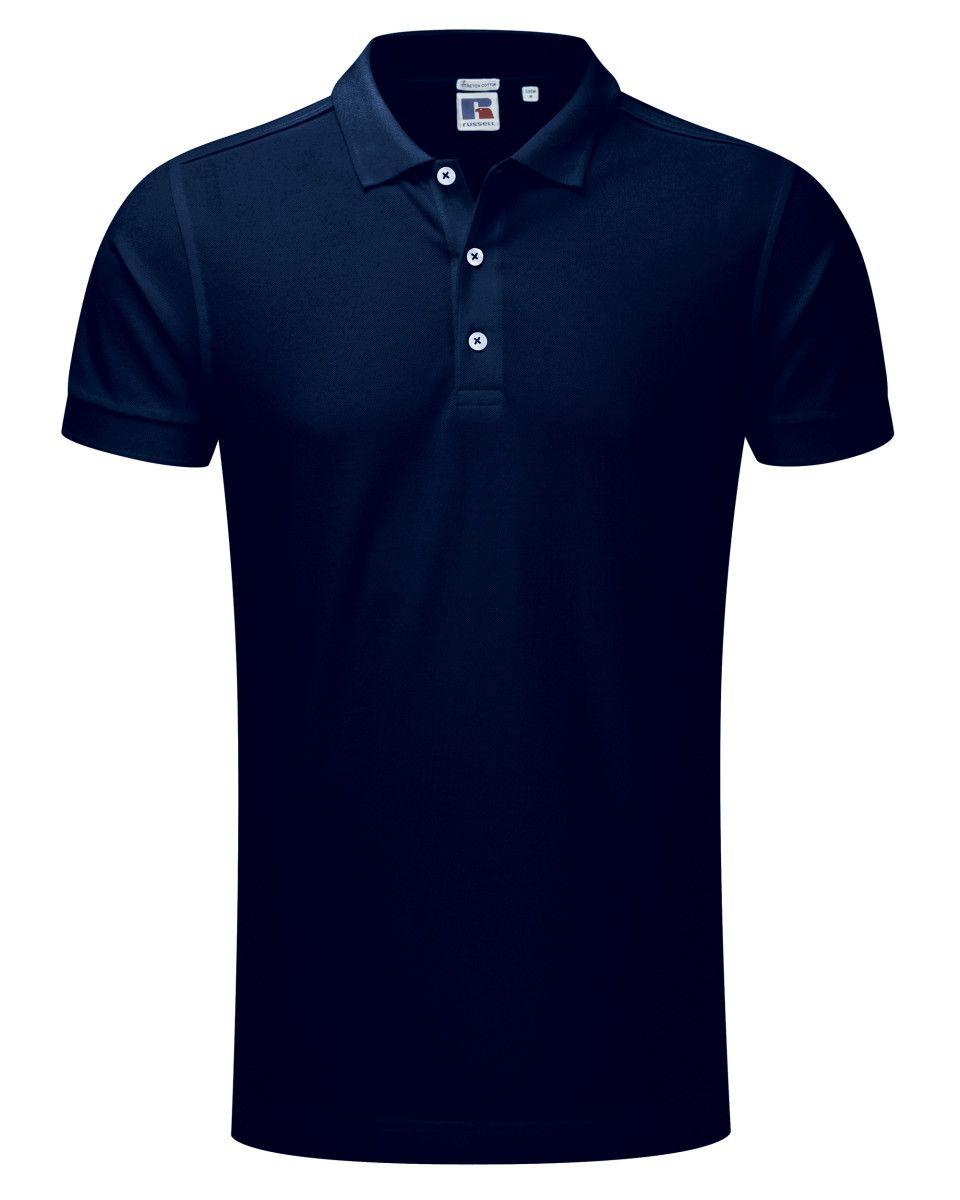 Chiltern leisure teamwear supplier arcc mens cotton for Stretch polo shirt mens