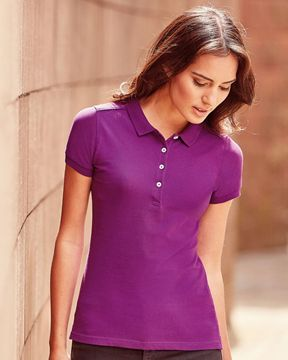 Picture of ARCC Ladies Cotton Stretch Polo Shirt - Purple