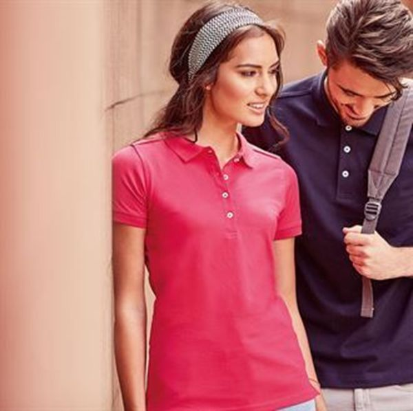 Picture of HCC Ladies Cotton Stretch Polo Shirt - Fuchsia