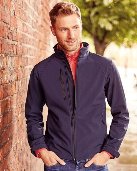 Picture of HCC Russell Mens Softshell Jacket - French Navy