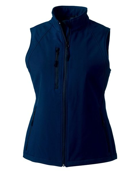 Picture of HCC Russell Ladies Softshell Gilet - French Navy