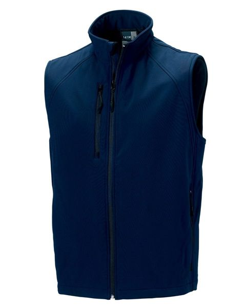 Picture of HCC Russell Mens Softshell Gilet - French Navy