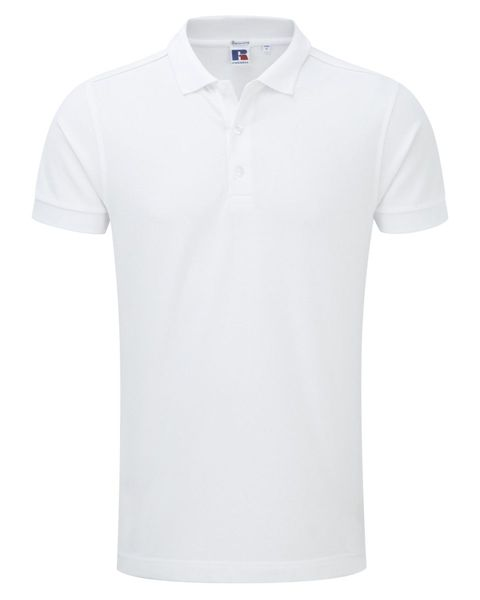 Picture of HCC Mens Cotton Stretch Polo Shirt - White