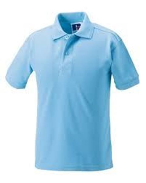 Picture of WHSGC Russell Men's  Poly/Cotton Polo Shirt - Sky Blue