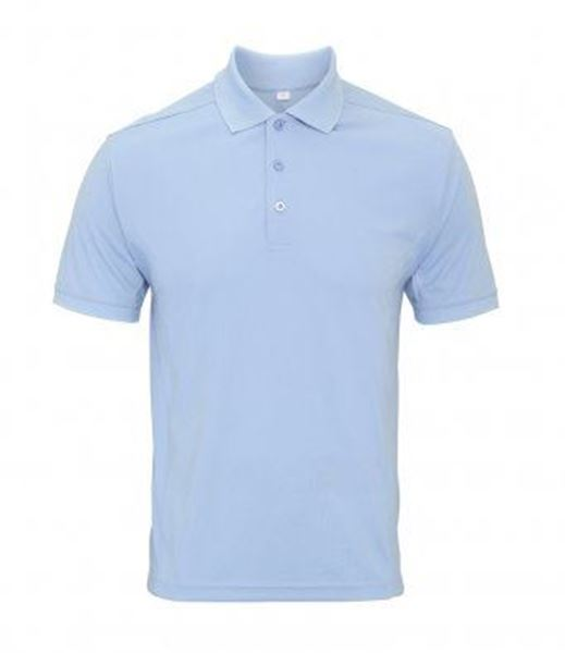 Picture of WHSGC Premier Men's Coolchecker Polyester Polo Shirt - Light Blue