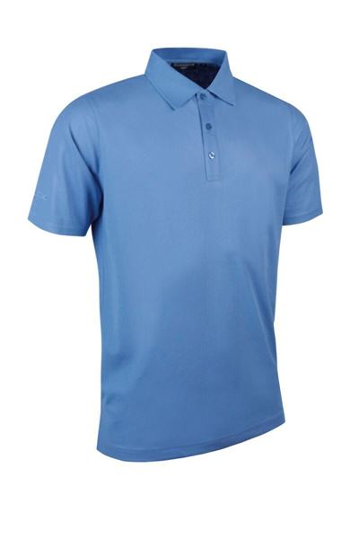 Picture of WHSGC Glenmuir Men's Classic Fit Pique 100% Cotton Polo Shirt - Light Blue