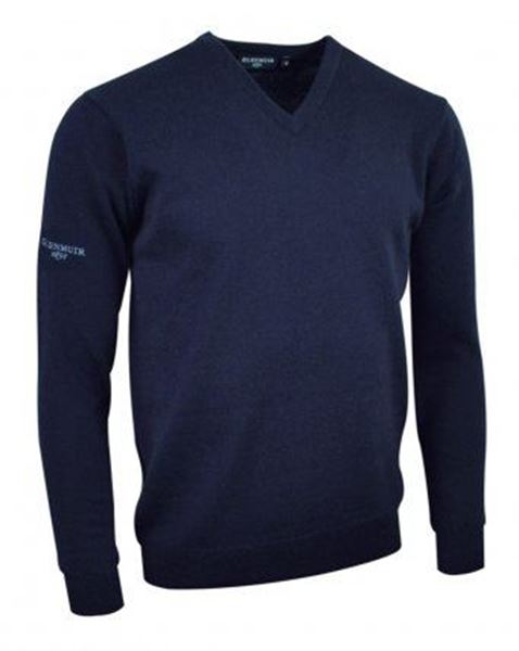 Picture of WHSGC Glenmuir Men's V Neck Lambswool Sweater - Navy