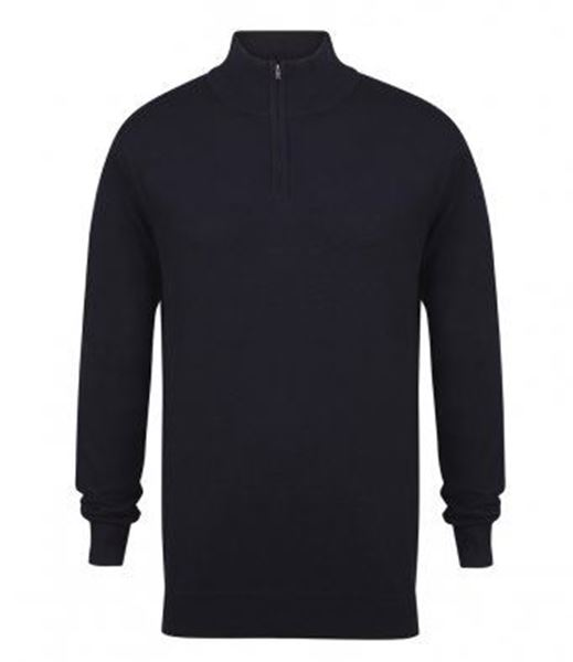 Picture of WHSGC Henbury Men's Zip Neck Sweater - Navy