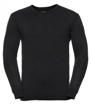 Picture of CCC Russell V-Neck Knitted Pullover - Black