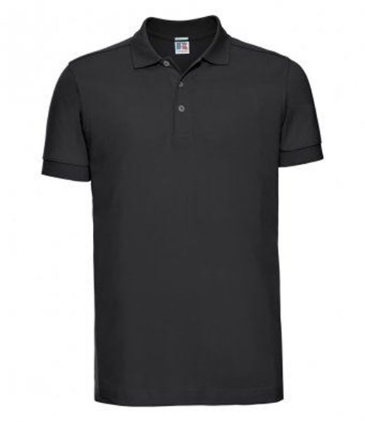 Picture of CCC Mens Cotton Stretch Polo Shirt - Black