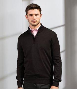 Picture of CCC Premier Zip Neck Sweater - Black