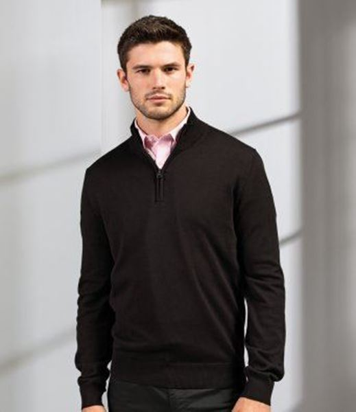 Picture of CCC Premier Zip Neck Sweater - Black