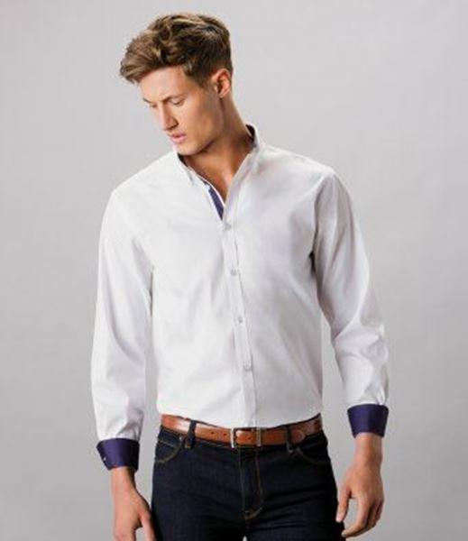 Picture of CCC Mens Kustom Kit Long Sleeve Shirt - White/Charcoal