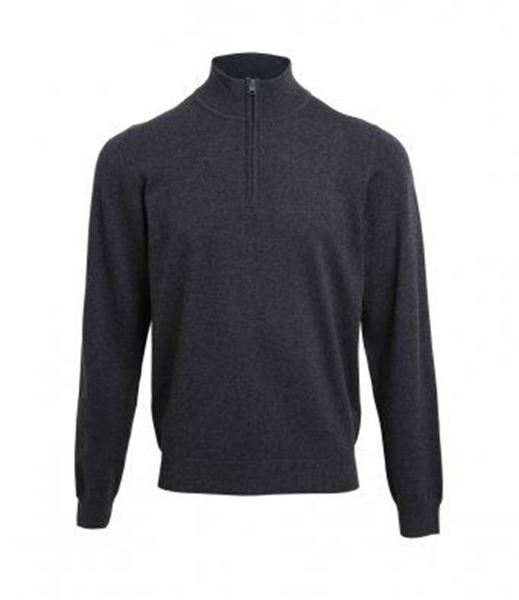 Picture of CCC Premier Zip Neck Sweater - Charcoal