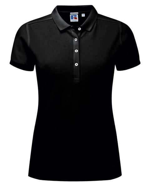 Picture of CCC Ladies Cotton Stretch Polo Shirt -  Black