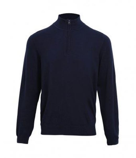 Picture of HCC Premier Zip Neck Sweater - Navy