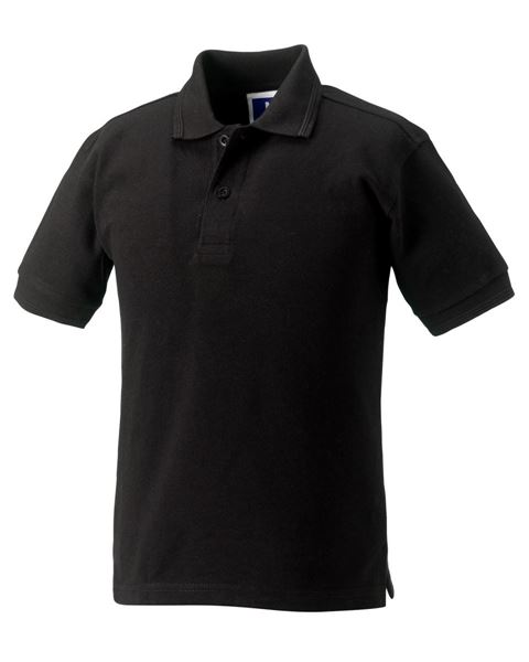 Picture of CCC Russell Childrens Polo Shirt - Black