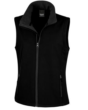 Picture of CCC Result Ladies Softshell Gilet - Black