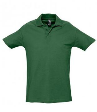 Picture of Bledlow CC SOLS Mens Heavy Cotton Stretch Polo Shirt - Golf Green
