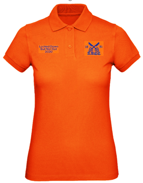 Picture of ARCC 'Lockdown' Womens Inspire Polo Shirt - Urban Orange
